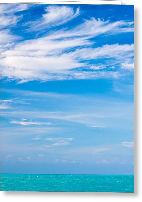 Gulf Serenity  Greeting Card by Adam Pender