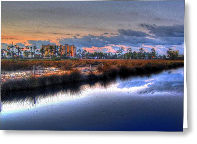 Gulf Shores From The Bayou Greeting Card