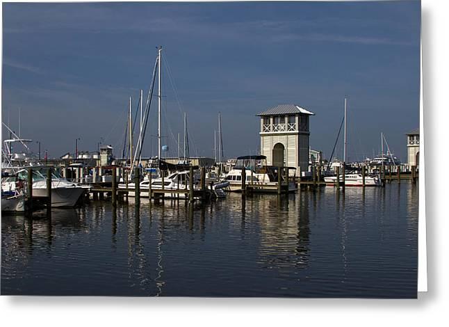 Gulfport Harbor Greeting Card by Diane Carlisle