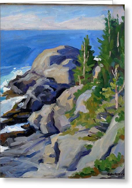 Gull Rock Monhegan Greeting Card