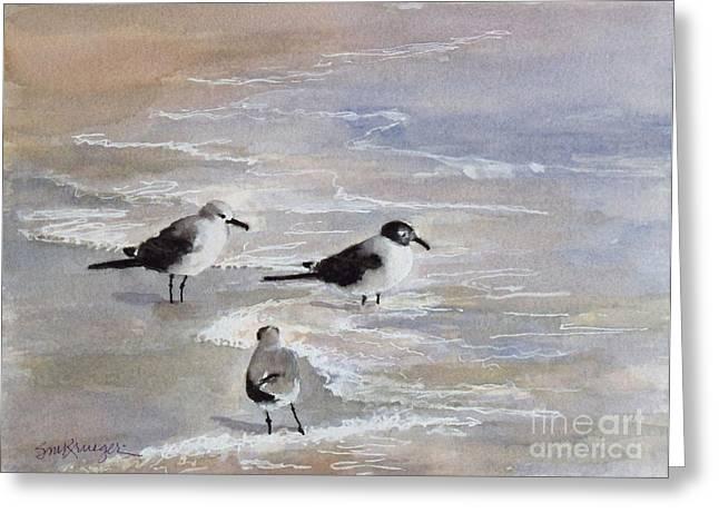 Gulls On The Beach Greeting Card