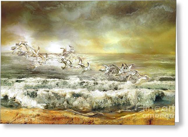 Gulls On The Sea Greeting Card