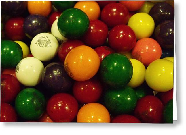 Gumballs Greeting Card