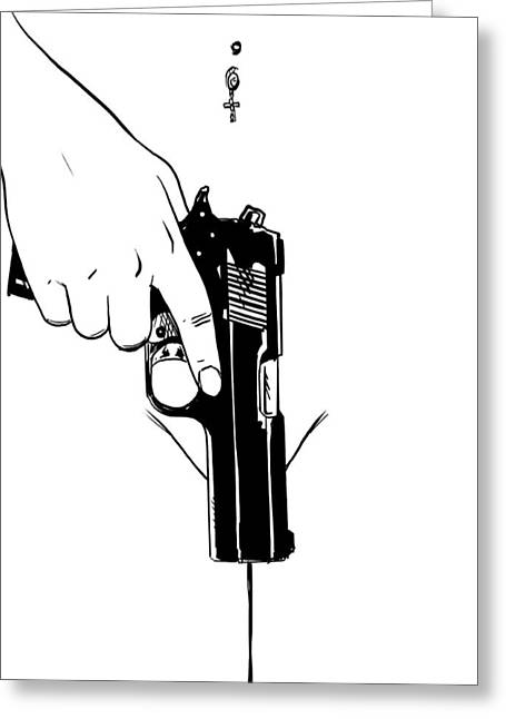Gun Number 4 Greeting Card by Giuseppe Cristiano