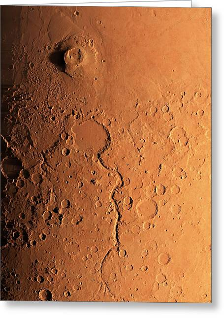 Gusev Crater And River, Mars Greeting Card