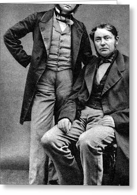 Gustav Kirchhoff And Robert Bunsen Greeting Card by Science Source