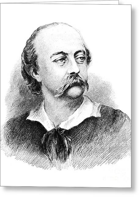 Gustave Flaubert, French Author Greeting Card by Photo Researchers