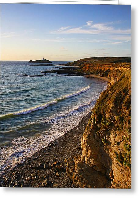 Gwithian Beach Greeting Card by Ken Brannen
