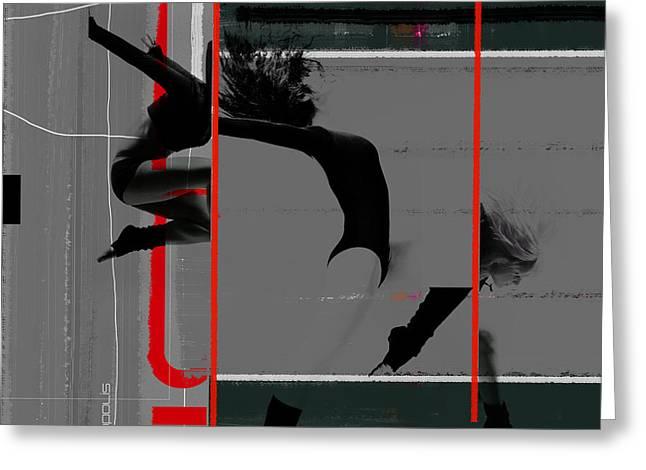 Gymnastics Greeting Card by Naxart Studio