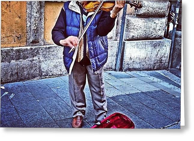 Gypsy Violin #travel #violin #gypsy Greeting Card