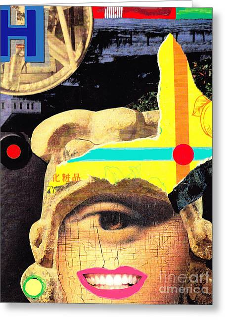 'h Collage Greeting Card