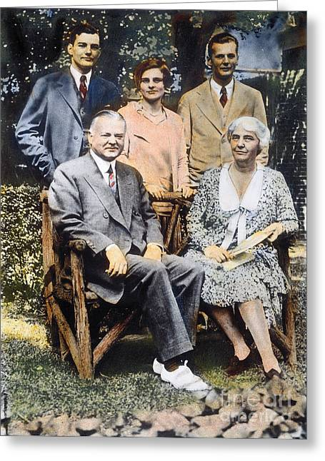 H. Hoover And Family Greeting Card by Granger