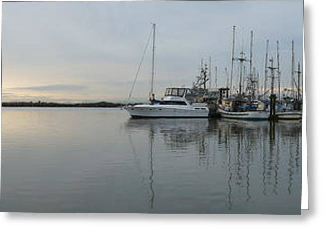 Habour Morning Greeting Card by James Yang