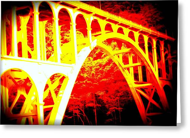 Haceta Head Bridge In Abstract Greeting Card