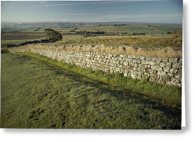 Hadrians Wall In The Steel Rig Area Greeting Card