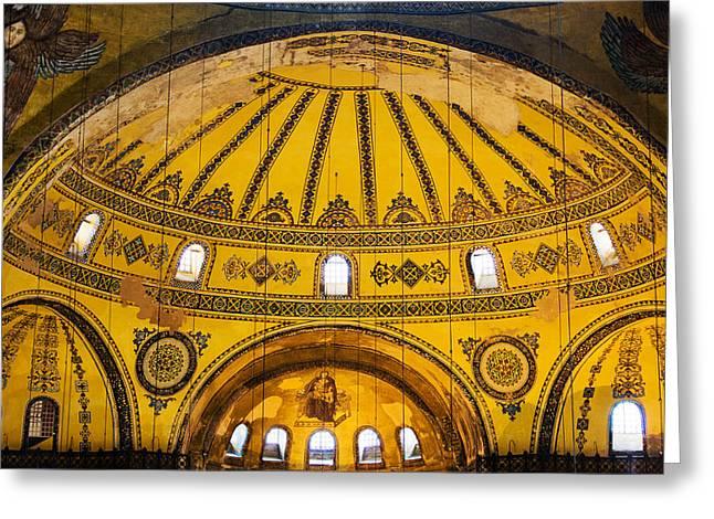 Hagia Sophia Architecture Greeting Card by Artur Bogacki