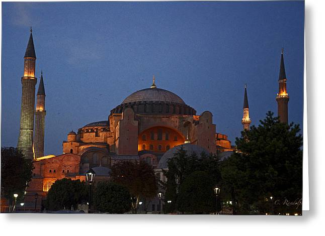 Hagia Sophia Greeting Card by Cheri Randolph