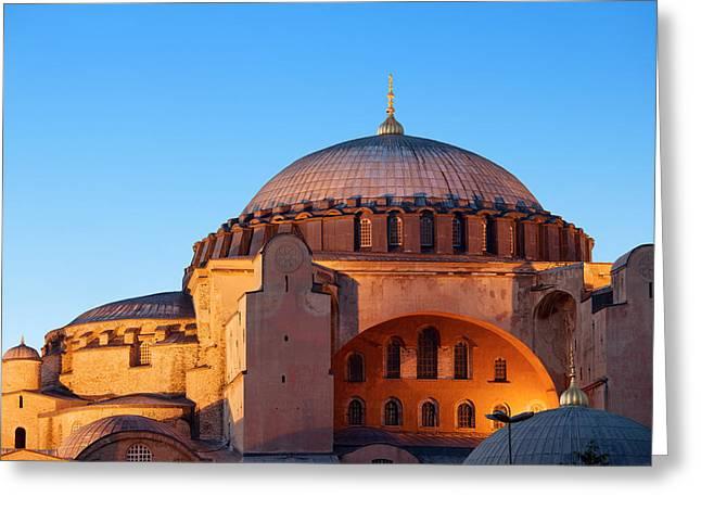 Hagia Sophia In Istanbul Greeting Card by Artur Bogacki