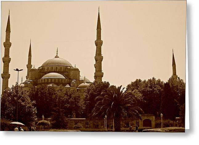 Hagia Sophia Istanbul Greeting Card by Georgeta  Blanaru