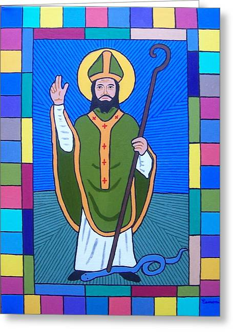 Hail Glorious Saint Patrick Greeting Card by Eamon Reilly