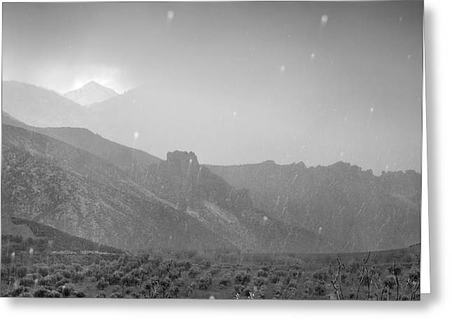 Hail Storm In The Mountains Greeting Card by Guido Montanes Castillo