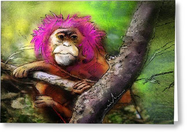 Hairs To You Greeting Card by Miki De Goodaboom