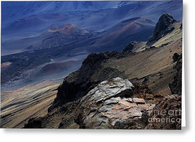 Haleakala Crater  Greeting Card by Bob Christopher
