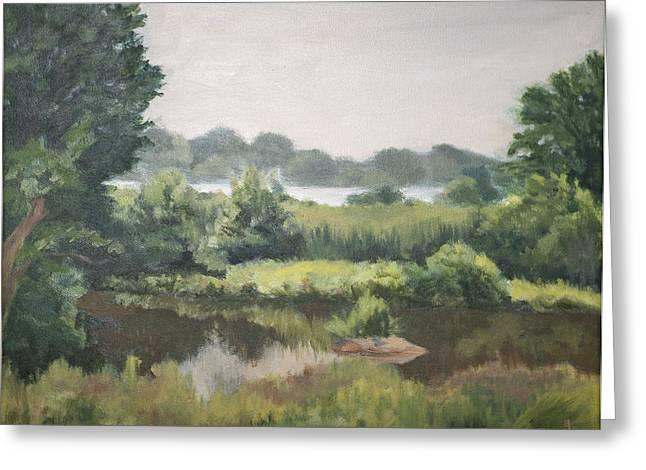 Haley Farm Pond Greeting Card by Elena Liachenko
