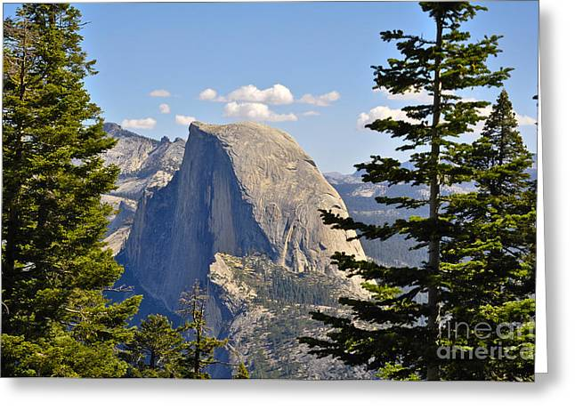 Half Dome Greeting Card by Camille Lyver