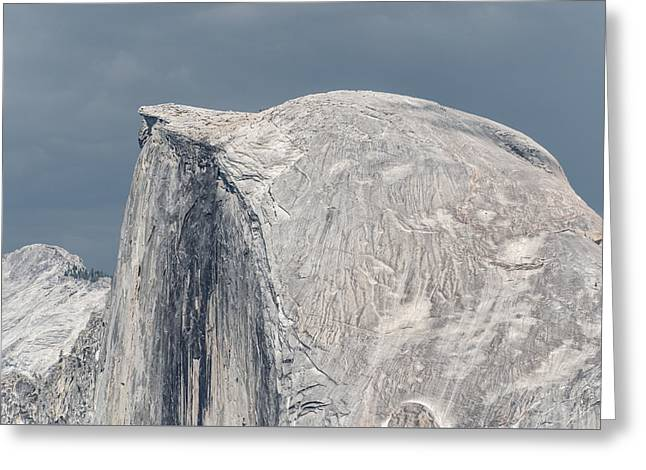 Half Dome From Glacier Point At Yosemite Np Greeting Card