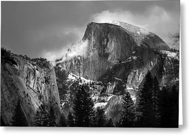 Half Dome Greeting Card by Jeff Grabert