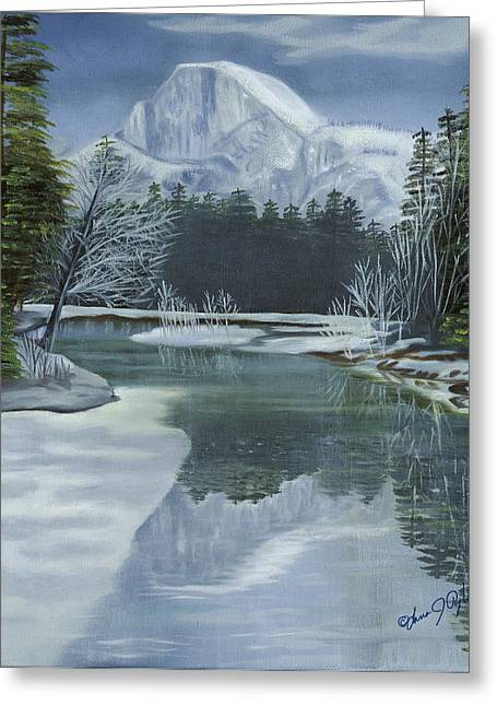 Half Dome Reflections Greeting Card by Lana Tyler