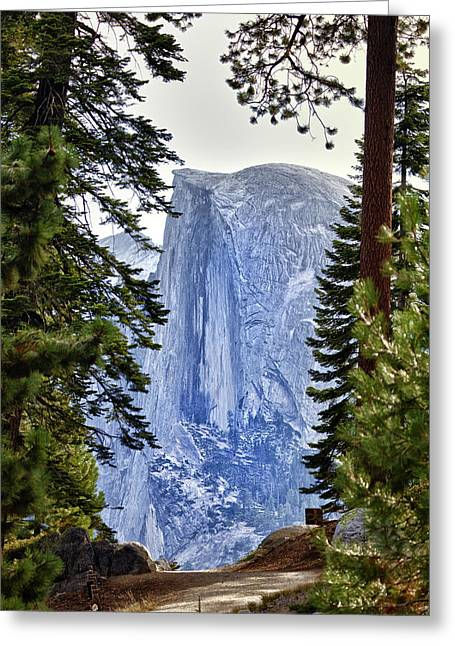 Half Dome Through The Trees Greeting Card