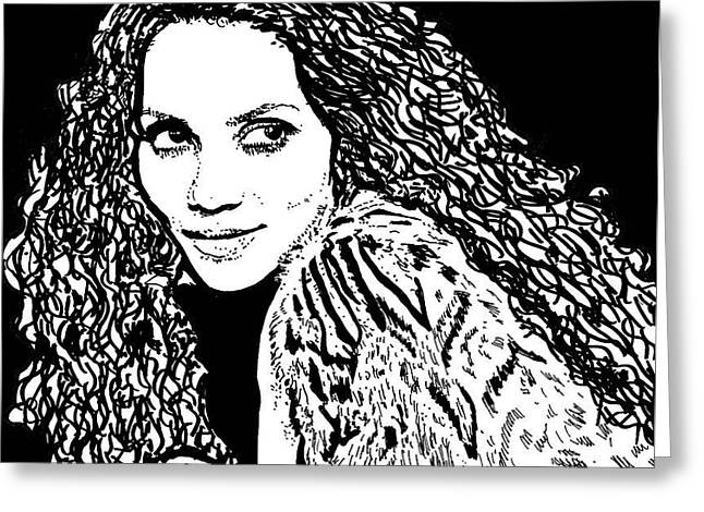 Halle Berry Greeting Card by Lori Jackson