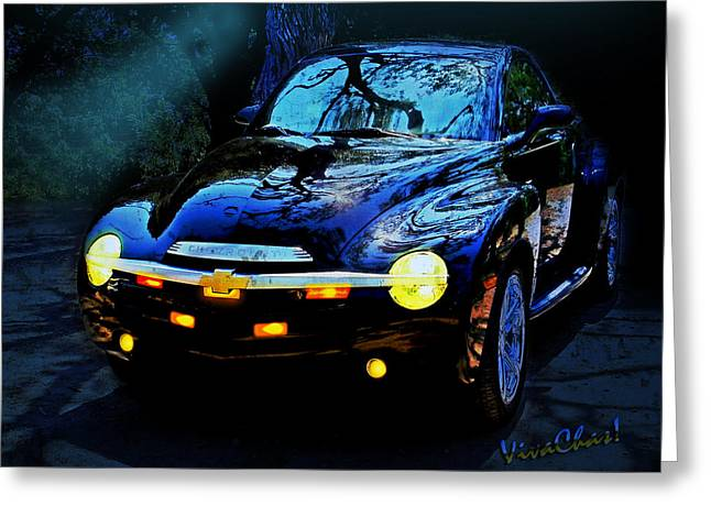 Hallow Weenie Chevy Ssr Greeting Card by Chas Sinklier