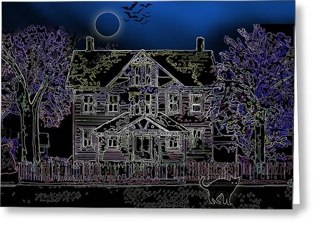 Halloween Haunt Greeting Card by Clara Sue Beym