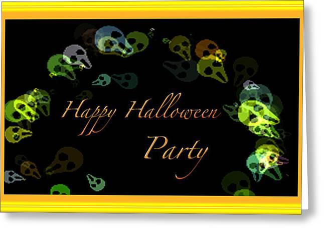 Halloween Party Greeting Card by Debra     Vatalaro