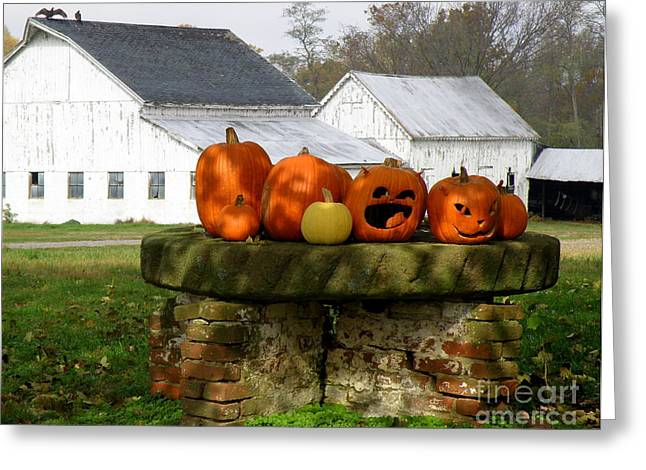 Greeting Card featuring the photograph Halloween Scene by Lainie Wrightson