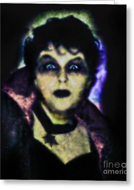 Halloween Vampire Look Greeting Card by Alexandra Jordankova