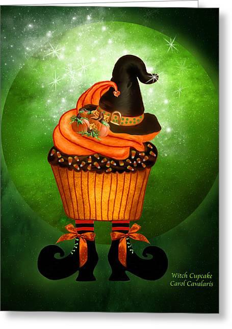Halloween - Witch Cupcake Greeting Card