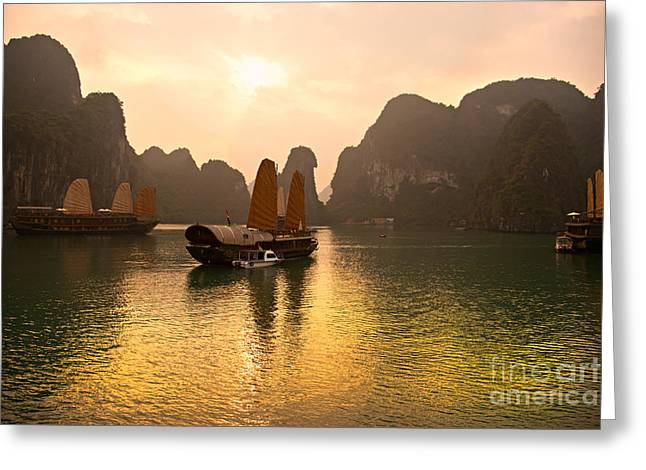 Greeting Card featuring the photograph Halong Bay - Vietnam by Luciano Mortula