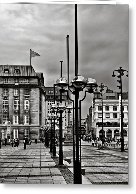 Greeting Card featuring the photograph Hamburg Walk by Edward Myers