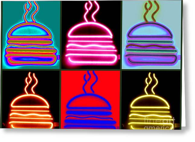 Greeting Card featuring the photograph Hamburgers  by France Laliberte