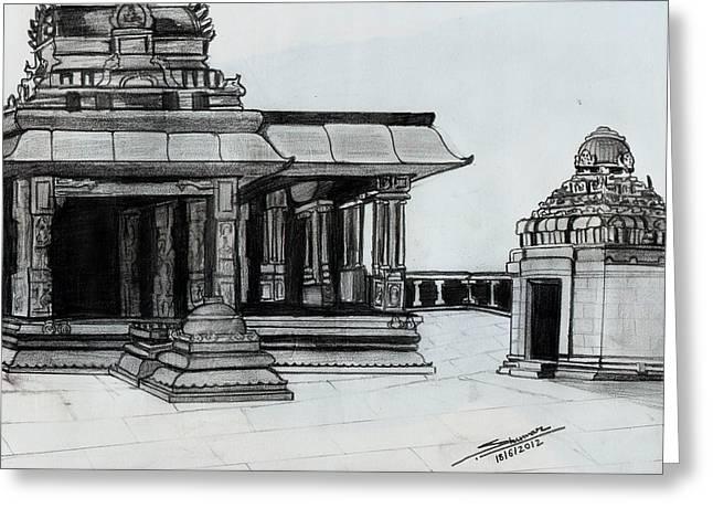 Hampi Stone Structure 2 Greeting Card by Shashi Kumar