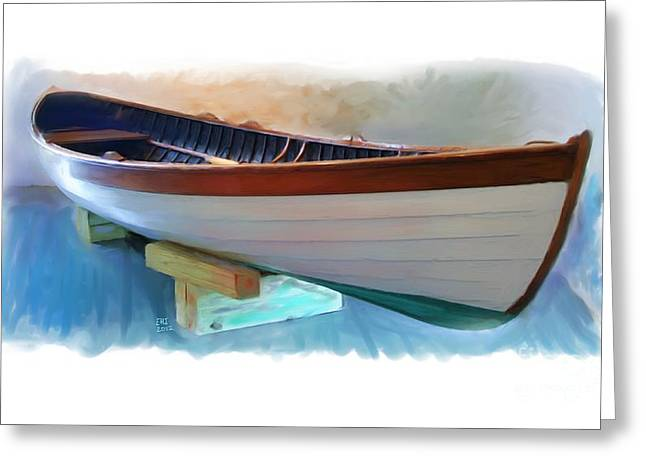 Hand Crafted Boat Painting Greeting Card by Earl Jackson