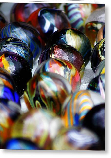 Hand Crafted Marbles Greeting Card by Scott Hovind