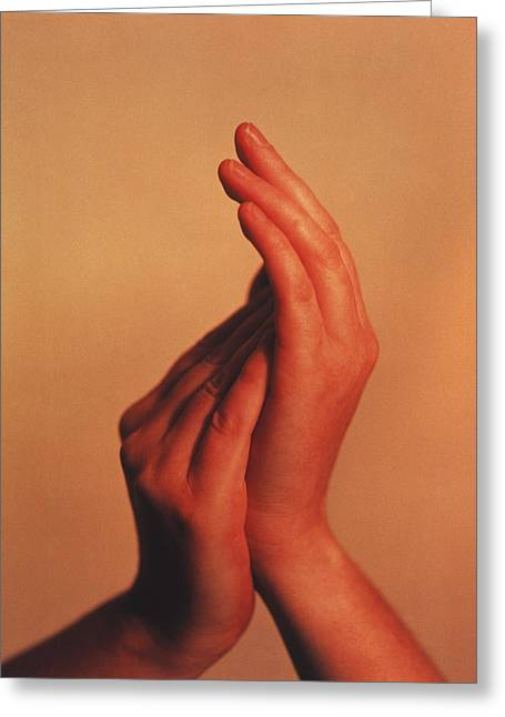 Hands Greeting Card by Cristina Pedrazzini