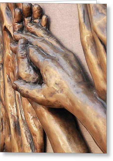 Hands Of Faith Greeting Card by David Schmerer