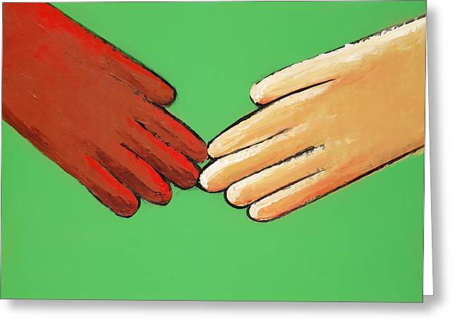 Hands Touching Greeting Card
