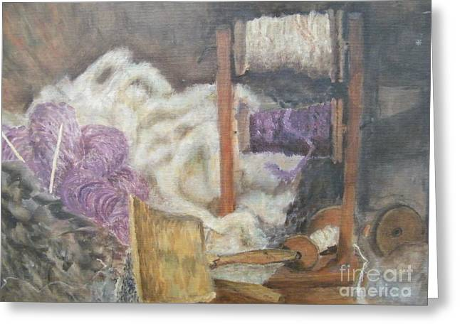 Handspun Greeting Card by Delores Swanson
